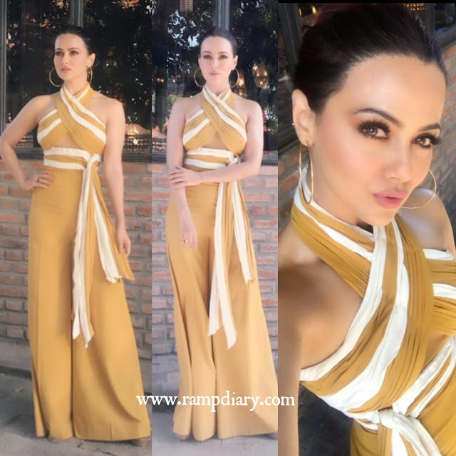 Sana Khan In Anome Woman Jumpsuit