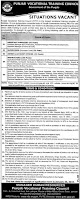 Government of the Punjab Vocational Training Council Announced Jobs