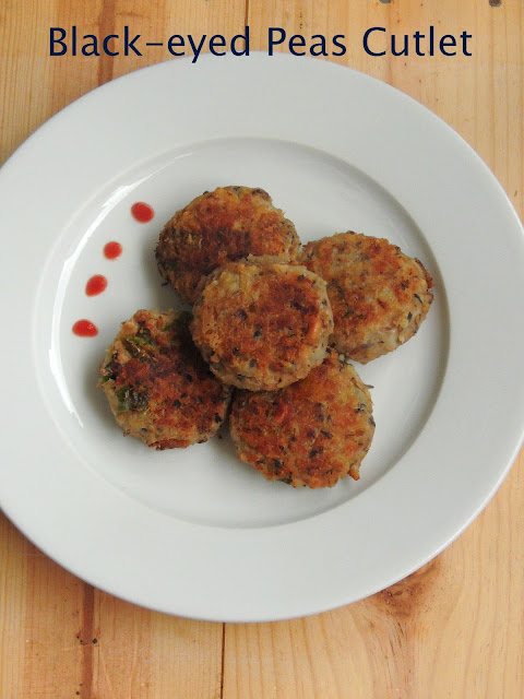 Black-eyed peas cutlet, Vegan Lobia tikkis