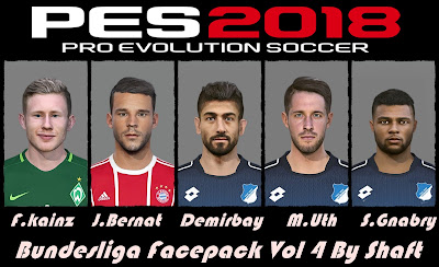 PES 2018 Bundesliga Facepack v4 by Shaft