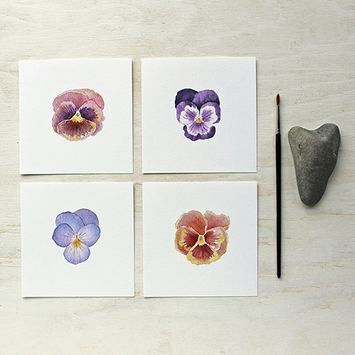 Set of Pansy Prints