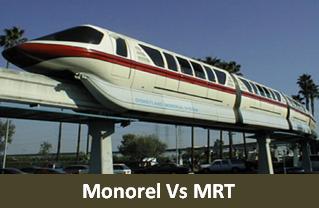 Apa itu Monorel MRT serta perbedaannya