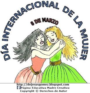 Dibujo del Día Internacional de la Mujer a color