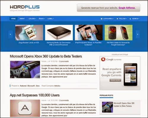 wordplus responsive blogger template