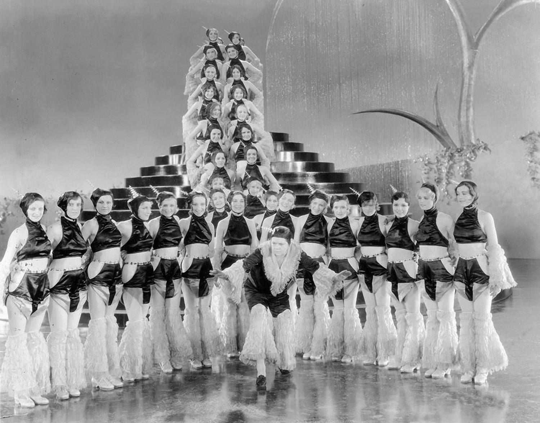 14 beautiful black and white photos of chorus girls from