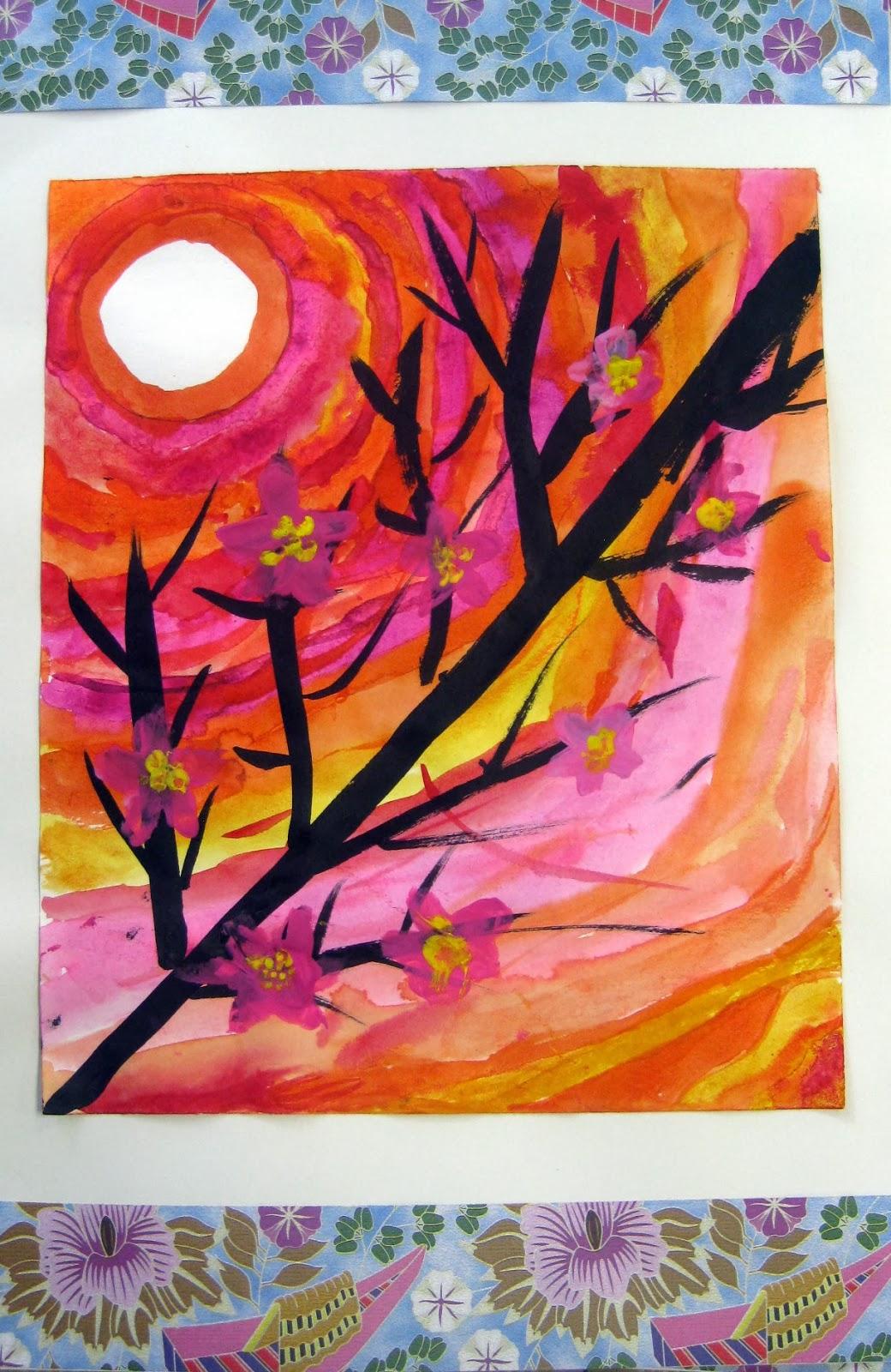 Cassie Stephens Japan Art Lesson