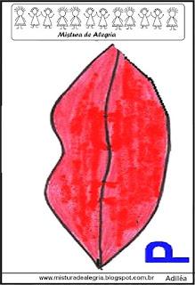 Alfabeto com boquinhas para alunos surdos