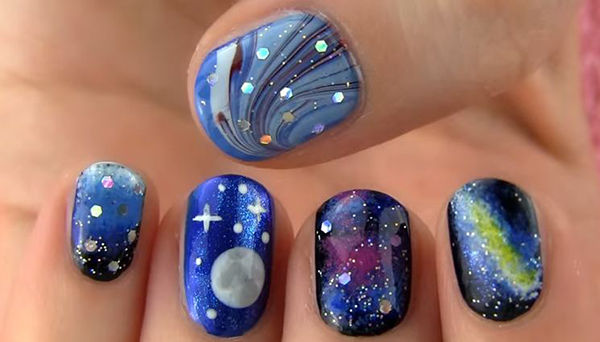 Gorgeous Galaxy Nail Art Design