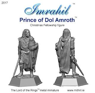 Imrahil - Prince of Dol Amroth Christmas figure