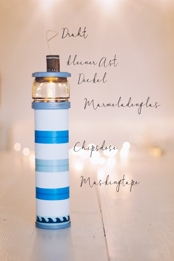 EIn selbstgemachtes LED Nachtlicht - DIY Leuchtturm zum Selbermachen. titatoni.de
