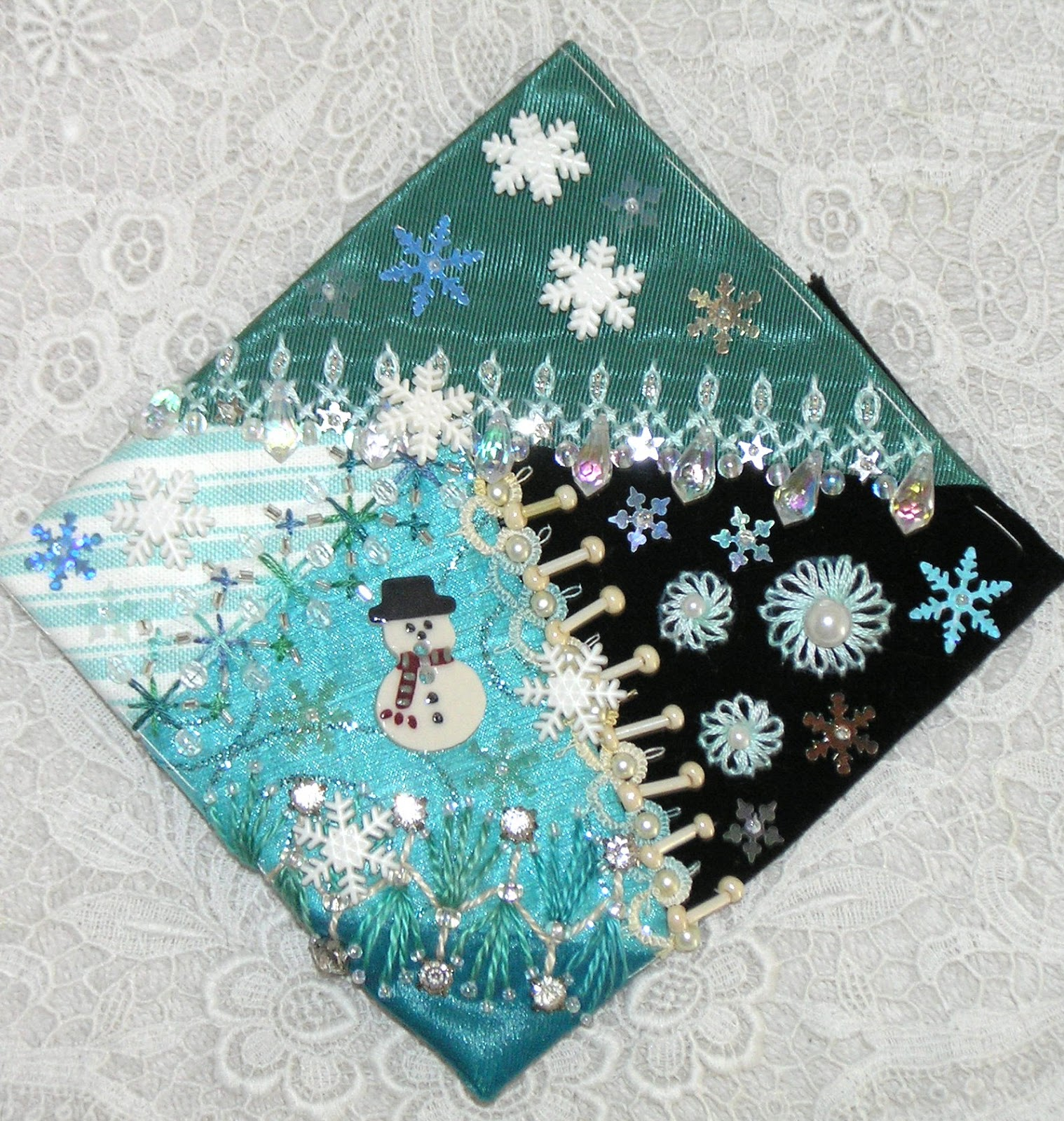 Kitty And Me Designs: Crazy Quilt Blocks for Christmas ...