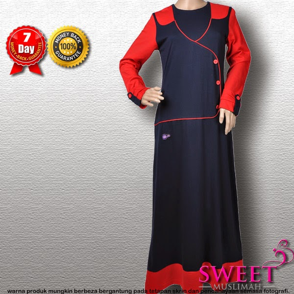 JUBAH COTTON MT103 Biru Merah (JENAMA: MUTIF) - SOLD OUT