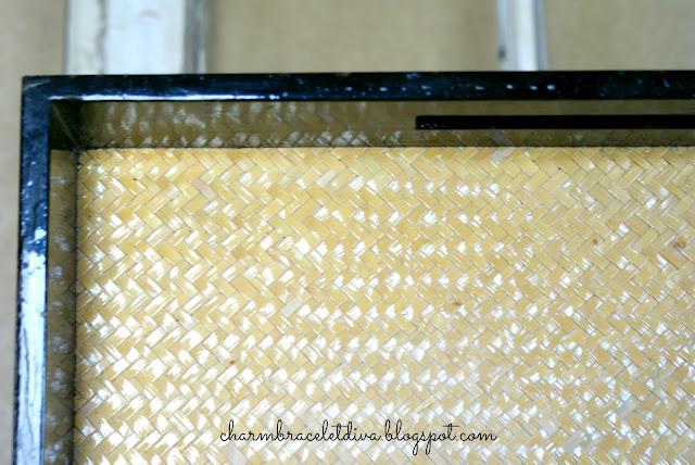 black lacquer tray