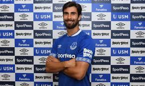 Everton land Barcelona's Yerry Mina and Andre Gomes and Brazil international Bernard