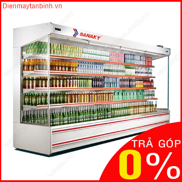 Trả góp 0%: Quầy mát trưng bày thực phẩm siêu thị