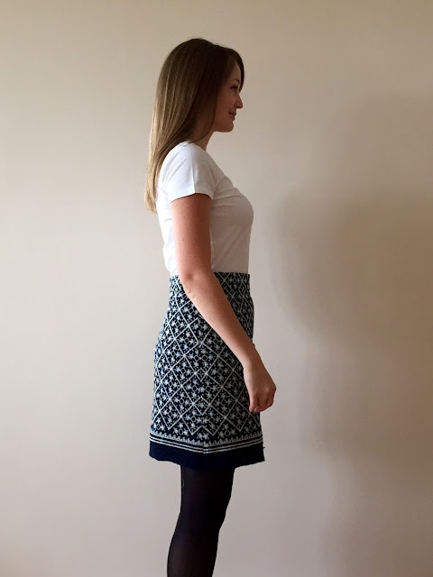 Diary of a Chain Stitcher: Vogue 1247 Rachel Comey Skirt in Rag & Bone Embroidered Raw Silk from Mood Fabrics