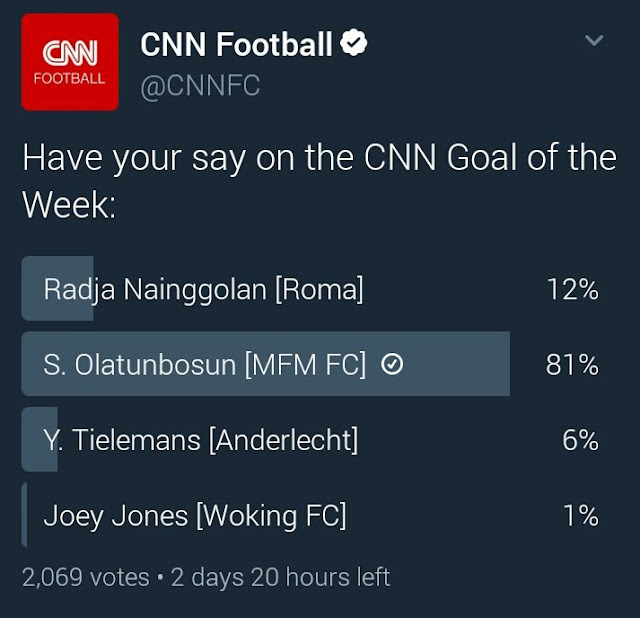 MFM striker makes it to CNN goal shortlist