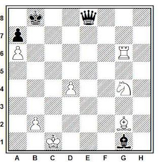 Estudio artístico de ajedrez compuesto por G. M. Kasparian (The Complete Studies, 1997)