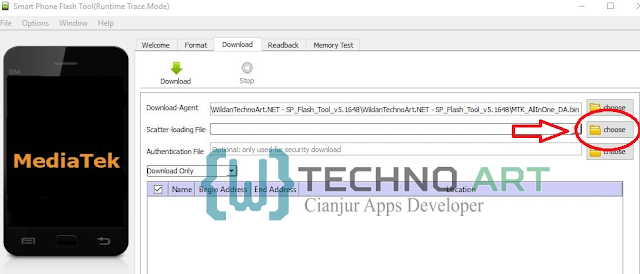 Memilih File Scatter-Loading Coolpad E580