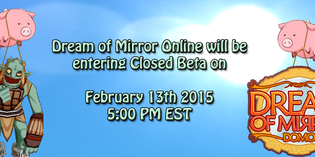 Dream Of Mirror Online - Closed Beta Test going start on 13th February