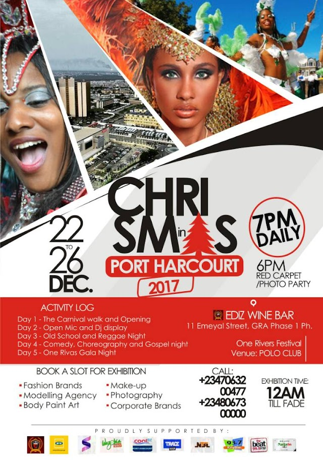 Port-Harcourt Youths To Celebrate Christmas With 'One Rivers Festival'