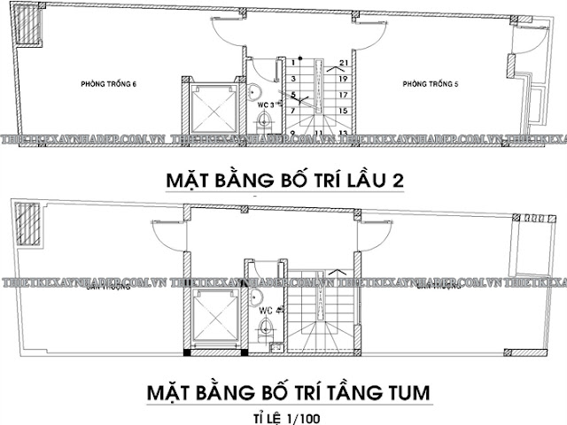 Mẫu thiết kế nhà ống 2 tầng 5x20 đẹp tại tỉnh Kiên Giang Tang-2-tang-tum