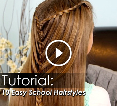 Fantastic Top 10 Easy School Hairstyles New School Girl Hair Styles B Hairstyle Inspiration Daily Dogsangcom