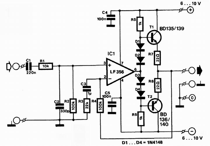 hifi headphone amplifier circuit diagram