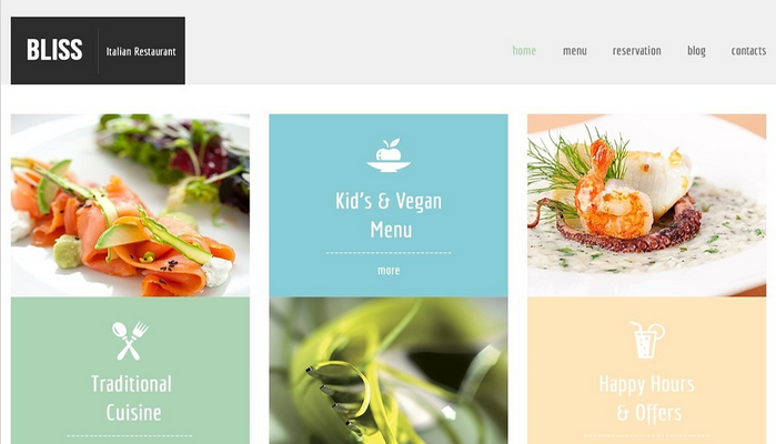 Free HTML5 Template for Restaurant Website