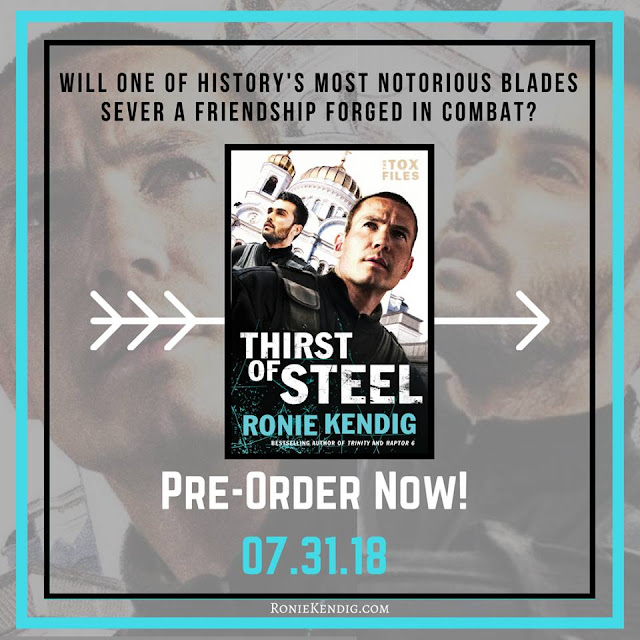 http://roniekendig.com/books/thirst-of-steel/