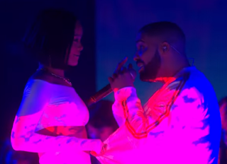 "Rihanna and Drake Loving ""Work"" Performance At The Brit Awards"