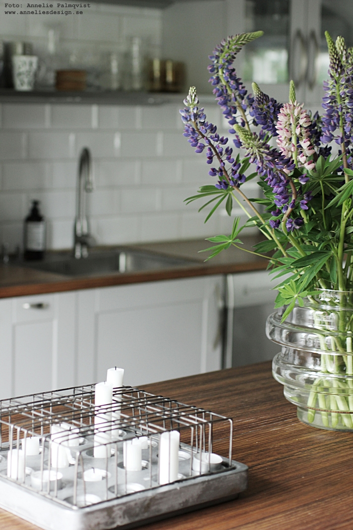 annelies design, webbutik, lupin, lupiner, blommor, vako, vas, inredning, stumpastake, stumpastaken, ljusstake, ljusstakar,