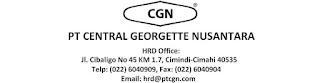 Lowongan Kerja PT. Central Georgette Nusantara Agustus 2016