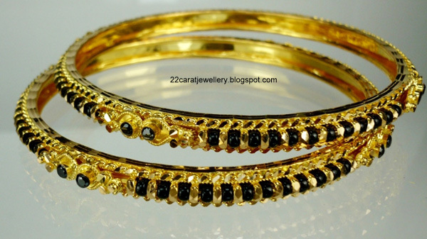 22 Carat Nallapusalu Black Beads Jewellery Jewellery Designs