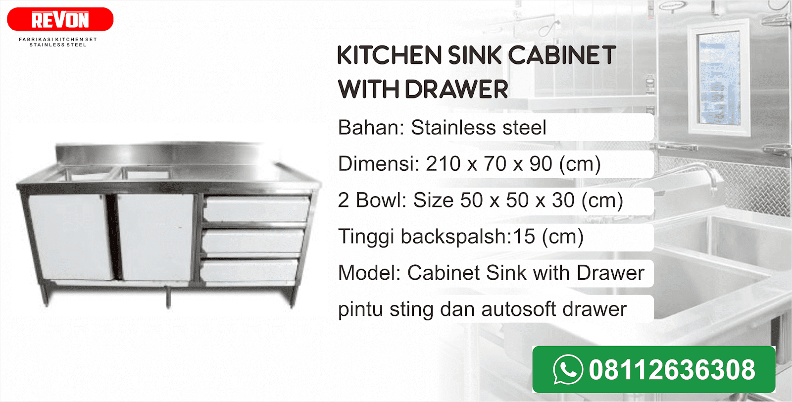 Harga Kitchen Sink Stainless Steel Murah Reymetal Com Produsen Kitchen Set Stainless Resto