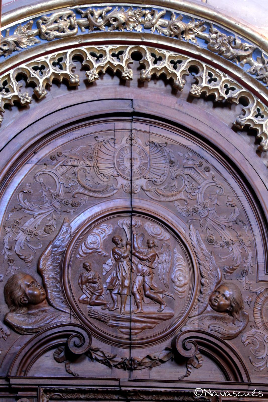 Detalle de un armario de la Sacristía Mayor