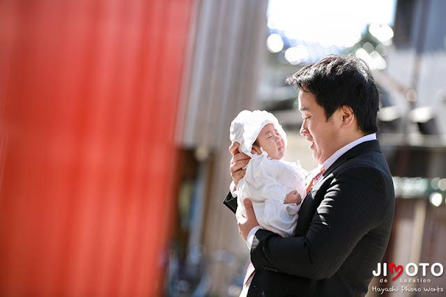 鶴見神社でのお宮参出張撮影