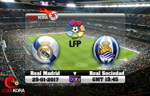 مشاهدة مباراة ريال مدريد وريال سوسيداد اليوم 29-1-2016 في الدوري الأسباني