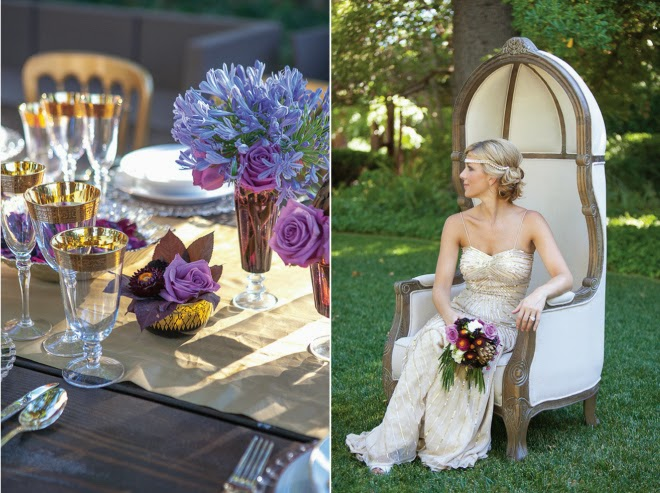 Old Hollywood Glam meets Art Deco Wedding Inspiration - Belle The ...