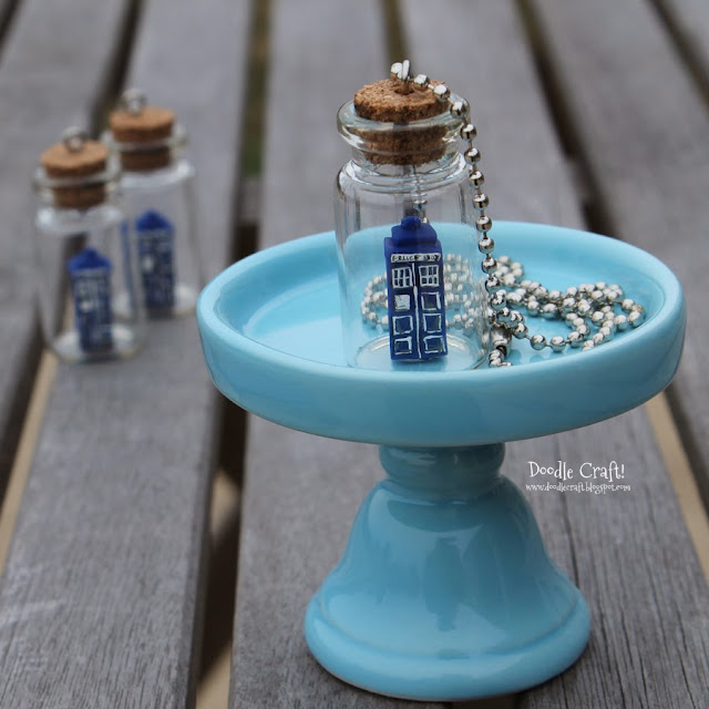 http://doodlecraft.blogspot.com/2013/11/doctor-who-tardis-in-bottle-necklace.html
