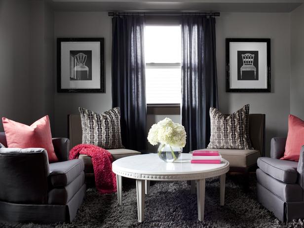 Design your dreams color splash living rooms - Gray paint living room ...