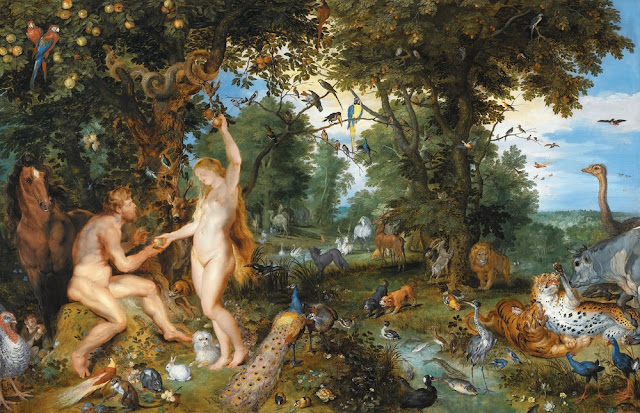 The garden of Eden with the fall of man (c.1615) by Jan Brueghel and Rubens