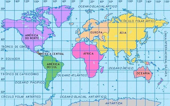 Cuales Son Los 6 Continentes Del Planisferio: HISTORIANDO: MAPAS PLANISFERIO Y EUROPA