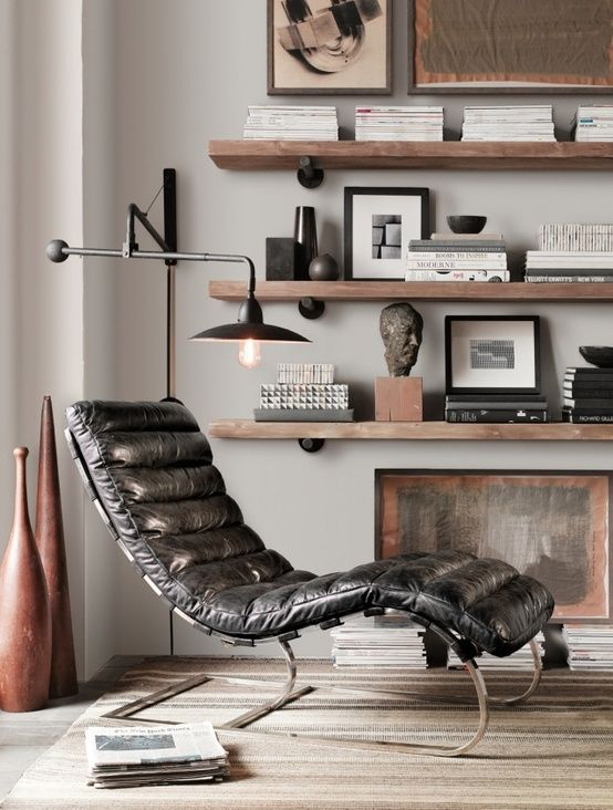 Masculine man cave decorating ideas - found on Hello Lovely Studio