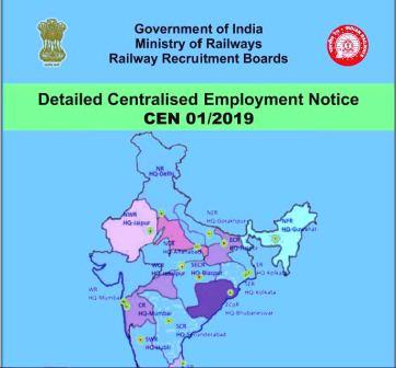 RRB NTPC 2019- CEN 01/2019 Official Notification