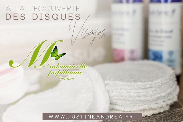 Cotons lavables visages biologique Mademoiselle Papillonne