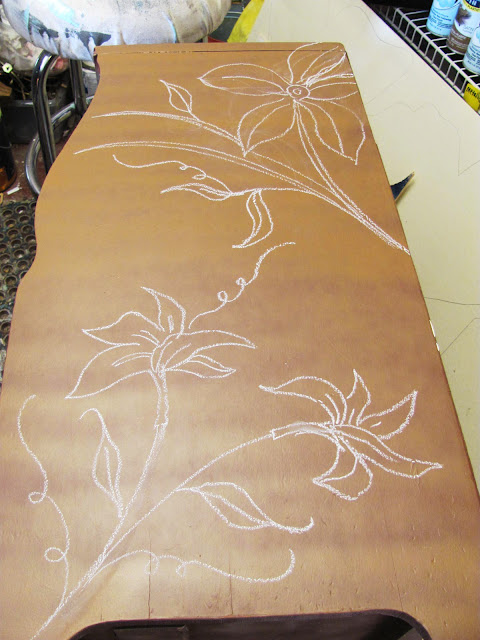 Dremel Carving On Nightstand Table Furniture With Flowers