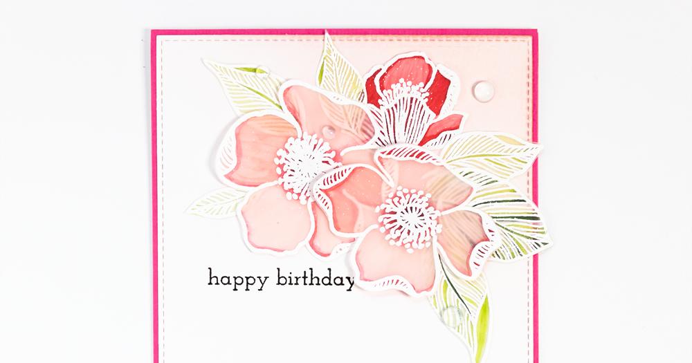 Dana Card Design: Birthday card |Altenew Adore You stamp set