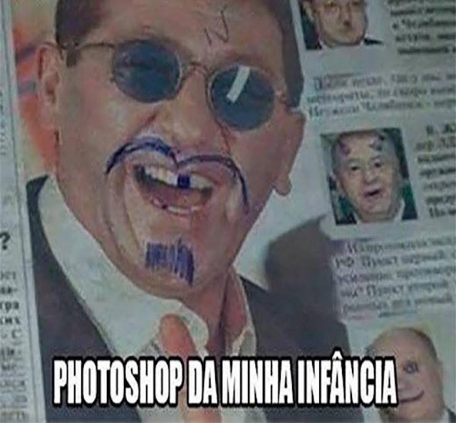 ... de desenhar nas caras das pessoas nas revistas