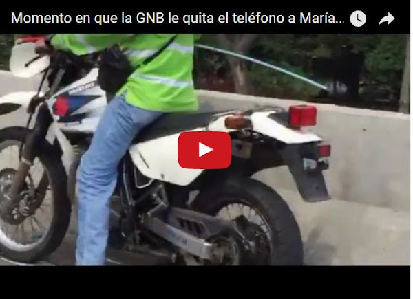 GNB le roba el celular a María Corina Machado